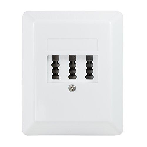 BIGtec Tae NFN Dose Aufputzdose Anschlussdose AP Telefondose 3×6-polig signalweiß weiß