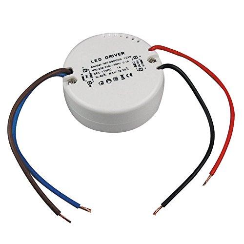 12W 230 V~ auf 12V= Rund ø x H – LED Trafo Treiber Elektronisch 0.5W – 55 x 23