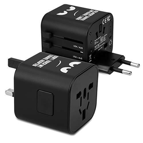 kwmobile Universal Reiseadapter für 150 Länder – Weltreise Reisestecker – Don't Touch Design – Stromadapter Stecker für Europa UK Australien USA