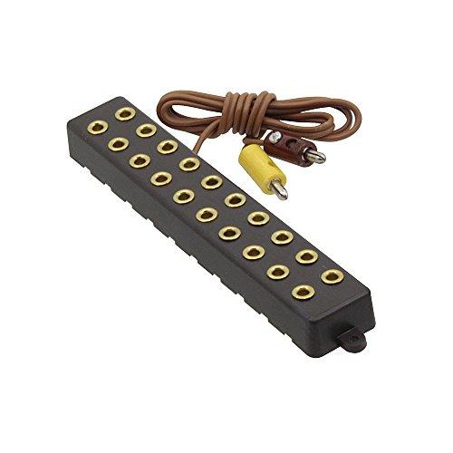 Zwergstecker 10 fach Verlängerung / Verteiler für Zwerg Stecker / Querlochstecker 2,6mm