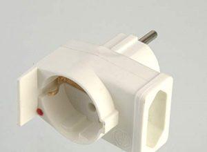 Kombi Duplex Geräteschutz-Stecker Kontrolllampe Blitzschutz Überspannungsschutz