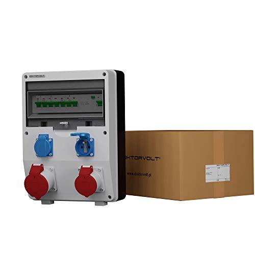 Stromverteiler ECO-S/FI 1x32A 1x16A 2x230V französisch/belgische System Steckdosen Bals Baustromverteiler Wandverteiler 2589