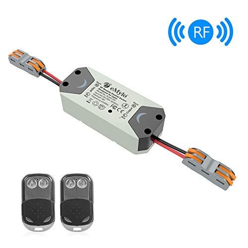 eMylo RF Wireless Smart Switch Home Mit HF-Empfänger Fernbedienung Smart Timing Switch Wireless Control für intelligente Hausautomationslösung 110-240V mit 2 Sendern
