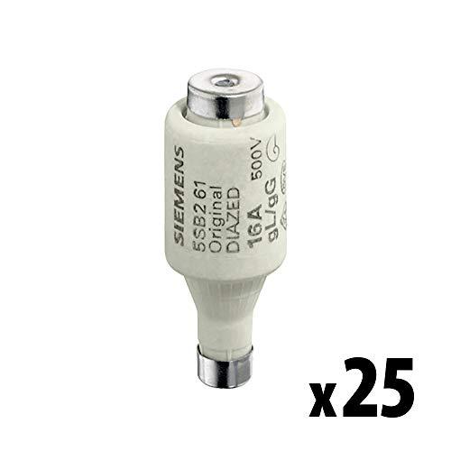 SIEMENS – x25 Stück DIAZED-Sicherungseinsatz 500V 25A