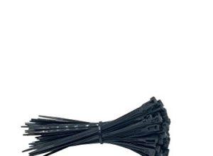 Wiederverwendbare, wiederverschließbare Premium Kabelbinder aus Nylon in Schwarz 100 Stück, 150mm x 3,6mm