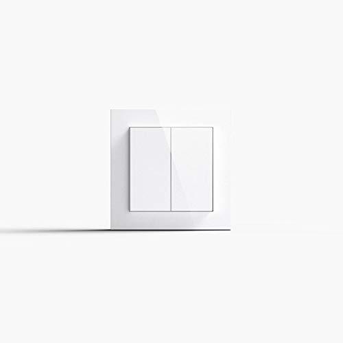 Friends of Hue Smart Switch: Kabelloser Philips Hue Schalter und Dimmer Keine Batterien, Kein Aufladen, Exklusiv für Philips Hue Lichter, Weiß Glänzend