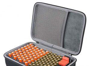 Hält 143 Batterien AA AAA C D 9V – Passend für Tacklife MBT01 Batterietester Akkutester Batterieprüfergerät S_Holds,Mit Tester – co2CREA Batterie Aufbewahrungsbox Tragetasche Batteriebox