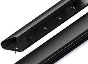 Schwarz – deleyCON Universal Kabelkanal Leitungskanal innovativer Klappmechanismus hochwertiges Aluminium Länge 100cm, Breite 6cm, Höhe 2cm