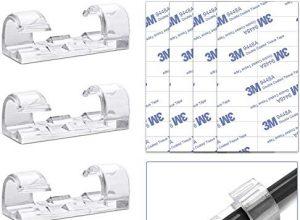 QUANHAO Selbstklebend Kabelschellen/Kabel-clips, Kabelhalter für Haus, Büro, Auto, PC. Anbringen an Wand oder Schreibtisch für Kabelmanagement 50 Packungen