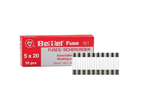 Sicherung 0,5A flink 5x20mm 250V TYP 521 10er Päckchen Feinsicherung Glassicherung G-Sicherung