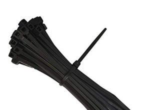 intervisio Kabelbinder 200mm x 2,5mm, Nylon, 200 mm Universalbinder, schwarz, 100 Stück Binders