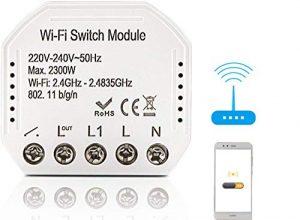 BeauFlw WiFi Smart Lichtschalter DIY Breaker Modul Smart Life/Tuya APP Fernbedienung, Arbeiten mit Alexa Echo Google Home 2 Way 2300W