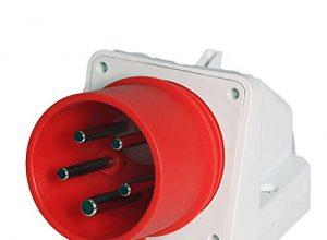 Wandgerätestecker CEE 3P+N+E 16A-6h 400V mit Phasenwender