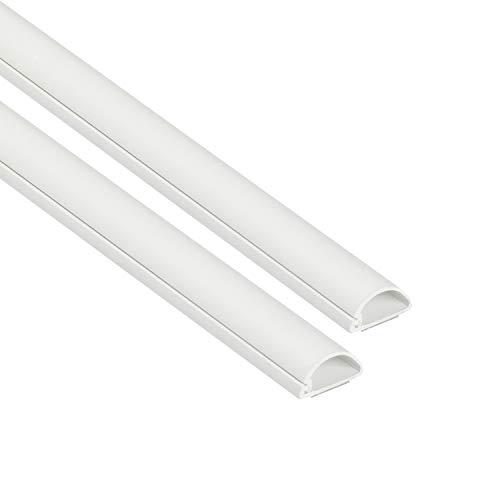 D-Line 1D2010W-2PK Mini Kabelkanal zur Kabelführung   Kabelleiste – Weiß – 2 x 20×10 mm, 1 m Länge 2-meter