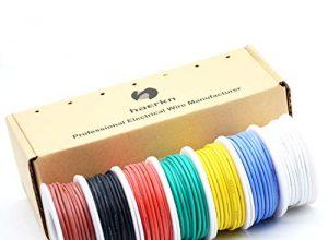 0.82mm² 18awg Elektronik Elektrischer Draht Kit Litzen Silikon Leitungen Draht Verzinntes Kupfer Kabel 7 Farbe