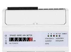 Multifunktions Energiemessgerät XTM1250S-U Digitales 3-Phasen 4-Draht KWh Meter DIN Schienen 6-Stelliges Stromzähler 20 80 A