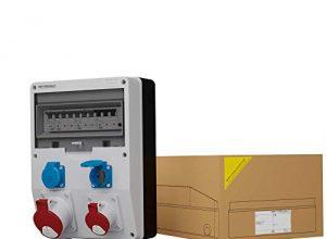 Stromverteiler DV TD-S/FI 1x32A 1x16A 2x230V IP54 Wandverteiler Baustromverteiler Doktorvolt® 1776