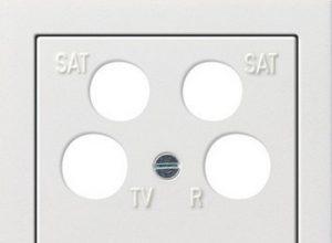 Gira 0259112 Zentralplatte 4-fach fuba ECG Astro Flächenschalter, reinweiß
