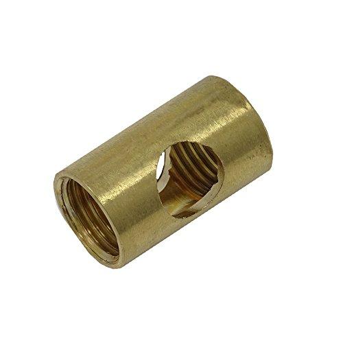 Auslass Muffe 2 Stück M10x1 ø 12x20mm seitliche Ovallöcher Röhrchen Gewinderohr Rohr Feingewinde Anschlussrohr Messing roh