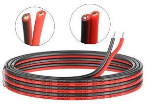 3.3mm² 12 AWG Silikon Elektrischer Draht Kabel anschließen 10 Meter 5 Meter schwarz und 5 Meter rot Weich und flexibel aus verzinntem Kupferdraht Hohe Temperaturbeständigkeit 200 Celsius 600V
