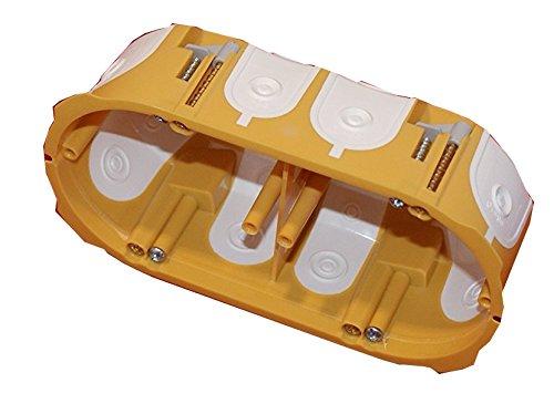 5x Schalterdose unterputz Hohlwand Schalterdosen UP Dose Winddicht Luftdicht hohlwanddose 2-fach