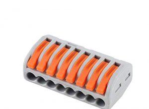 Steckklemme 8 Leiter klemmen 222 Verbindungsklemmen mit Betätigungshebeln 10 Stück 222-418
