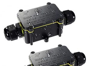 Abzweigdose, Kohree IP68 Verteilerdose Wasserdichte Kabelverbinder, Klemmdose für Außen Größere 2-Wege-Verbindungsdose für Ø4mm-12mm Kabeldurchmesser M25 Kabelverschraubung, ABS + PVC 2 Stück