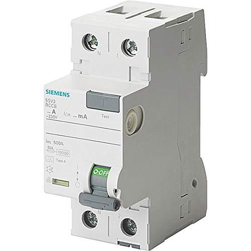 5SV33126KL FI-Schutzschalter 2-polig Typ A In: 25 A 30 mA Un AC: 230 V N-links – SIEMENS