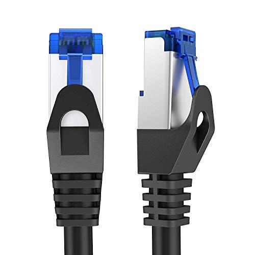 KabelDirekt – Netzwerkkabel, Ethernet, Lan & Patch Kabel überträgt maximale Glasfaser Geschwindigkeit & ist geeignet für Gigabit Netzwerke, Switches, Router, Modems mit RJ45 Eingang, silber – 10m