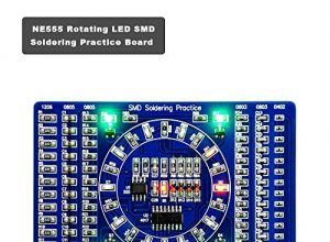 COVVY Rotating LED SMD NE555 Löt-Tafel DIY Kit Fanny Skill Training DIY Kit Electronic PCB Board Module Suit