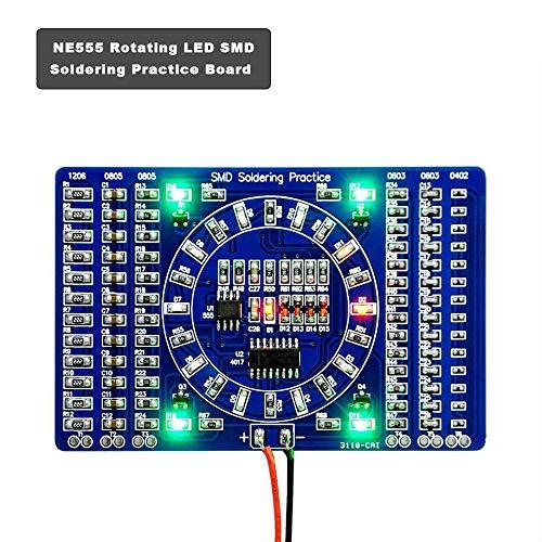 COVVY Rotating LED SMD NE555 Löt-Tafel DIY Kit Fanny Skill Training DIY Kit Electronic PCB Board Module Suit