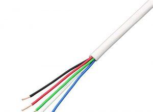 5m RGBW 5×0,34mm² LED Verlängerung Kabel Leitung ; Steuerleitung 5-adrig LiYY