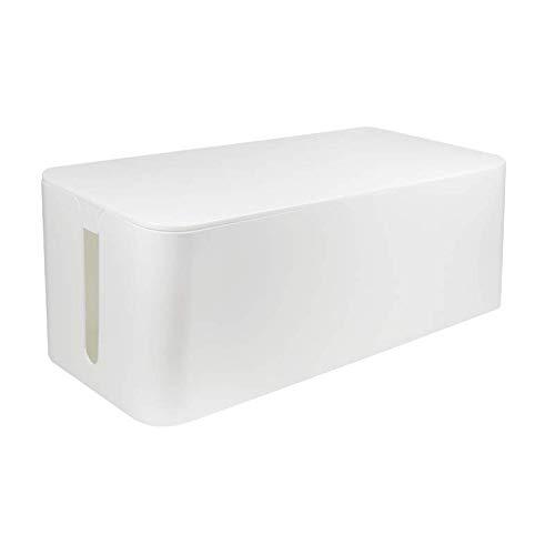 LogiLink KAB0063 – Kabelbox groß 407 x 157 x 133,5 mm, weiß