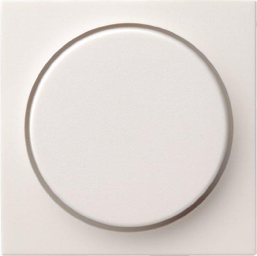 Gira 0650 27 Abdeckung 065027 Drehdimmer System 55 rw matt, Weiß