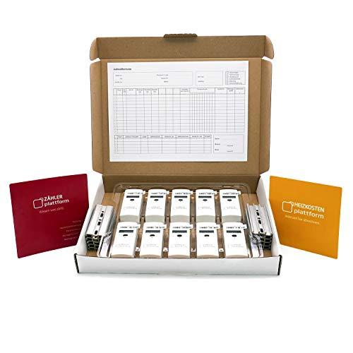 10 x Zähler Plattform 565 Heizkostenverteiler inkl. Plombe + Montageplatte + Heizkörperbewertung