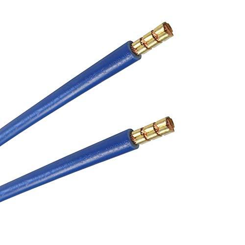 WITTKOWARE Verdrahtungsbrücken, 10mm², 35cm, 2X Aderendhülsen, blau