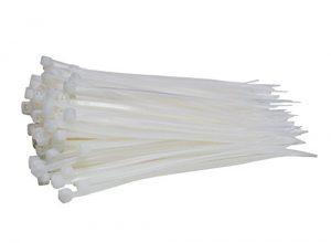 100 Stück Profi Kabelbinder Industriequalität weiß 100 mm x 2,5 mm für Industrie PC Fahrrad Nylon cable ties stark kurz weiss 8,1kg Zugkraft von Damstone
