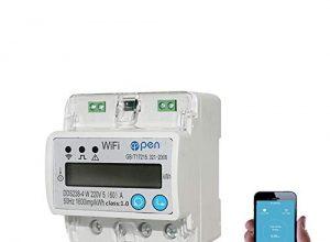 560 A 110V 230V 50HZ 60HZ digitaler Stromzähler EinphasenzählerSchiene Din WIFI Smart Energy Meter auf und unter Spannung Stromschutz RS485 Energiemessgerät