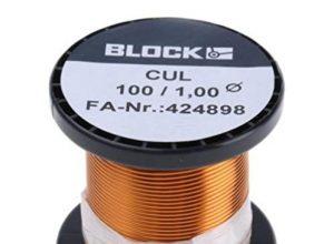 Block Kupferlackdraht 1mm Kupfer-lackdraht Wickeldraht Kupfer Draht Basteldraht Cul 100/1.00