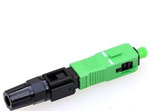 10 Stück Singlemode SC APC Schnellverbinder-Kabel, optische Faser, Schnellverbinder