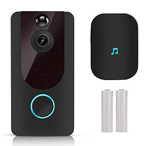 BlumWay Smart Video Doorbell, 1080P Überwachungskamera Türklingel mit Tür Gong/ 180 Grad Betrachtungswinkel/ 2 wiederaufladbare Batterie/ 7-tägiger kostenloser Cloud Service