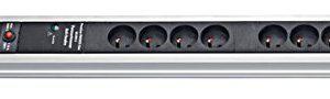 Brennenstuhl Premium protect-line Block mit Überspannungsschutz 30.000A, schwarz, 1391001308