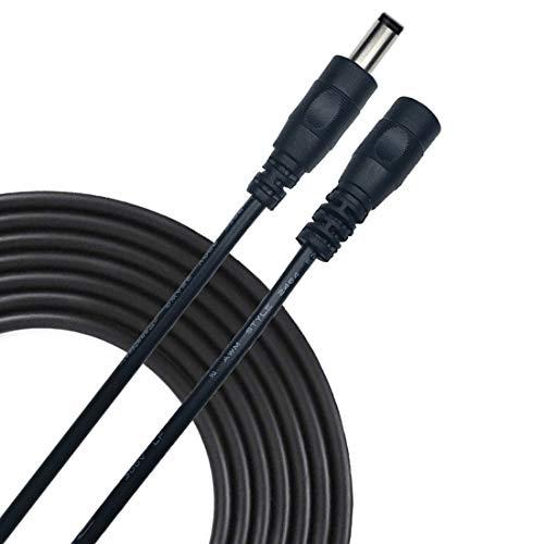 Liwinting 2m DC Verlängerungskabel 5.5 mm x 2.5 mm DC Anschlusskabel DC/Gleichstrom Verbinderkabel DC Verteiler Männlich zu Weiblich Verbinder für Netzteil, Schwarz