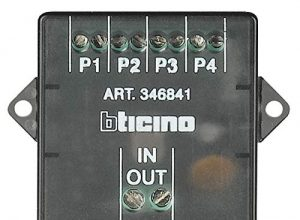 Einbau-Video-Signalverteiler/Etagenverteiler 4-fach für 2-Draht Sprechanlagen.