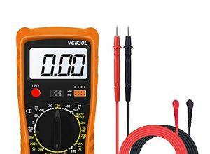 Digital Multimeter, AC/DC Voltmeter Amperemeter Messgeräte Widerstand Tester Tragbare Elektronisches Kapazitanz Messgerät Spannungserkennung Gerät Automatisch Durchgangsprüfer mit LCD-Display