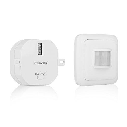 Smartwares SmartHome Funk-Schalterset mit Bewegungmelder und Mini-Einbauschalter für Geräte bis zu 1000 Watt, SH5-SET-ST