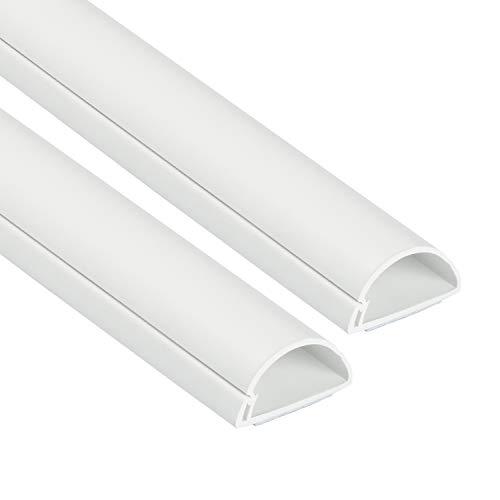 Weiß – 2 x 30×15 mm, 1 m Länge 2-meter – D-Line 1D3015W-2PK Mini Kabelkanal zur Kabelführung | Kabelleiste