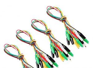Makerstack 40 Stück Testkabel Set mit Krokodil Krokodilklemme Doppelseitige Jumper Kabel mit 5 Farben 2.7cm