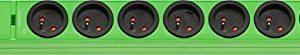 Hugo! Brennenstuhl Mehrfachsteckdose, mit 8Steckdosen, 2m Kabellänge, H05VV-F 3G1,5,mit Überspannungsschutz, 19,5 A, grün, 1150611398