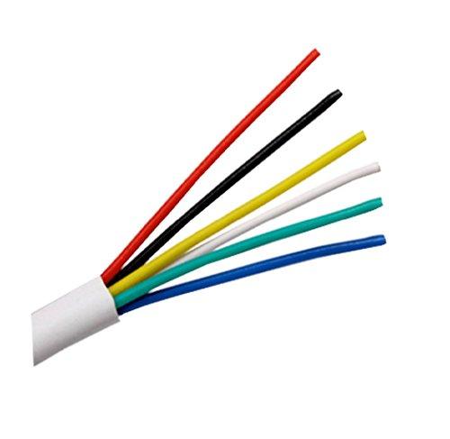 ganze Rollen und Länge nach Wunsch erhältlich – Alarmkabel, 6-adrig, weiß, PVC-isoliert